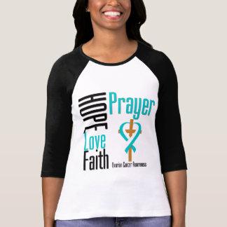 Cruz del rezo de la fe del amor de la esperanza camiseta