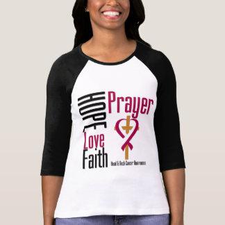Cruz del rezo de la fe del amor de la esperanza camisetas