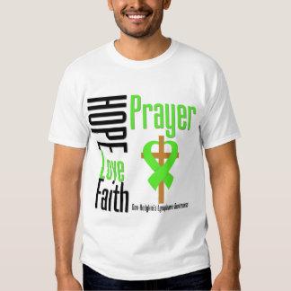 Cruz del rezo de la fe del amor de la esperanza remeras
