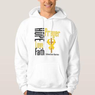 Cruz del rezo de la fe del amor de la esperanza sudadera