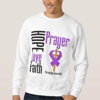 Cruz del rezo de la fe del amor de la esperanza suéter