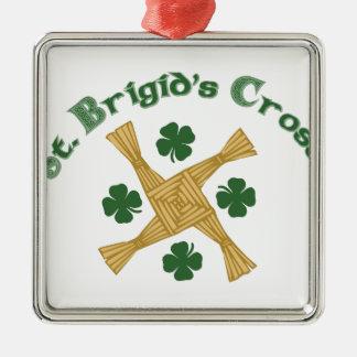 Cruz del St. Brigids Adorno Navideño Cuadrado De Metal