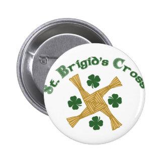 Cruz del St. Brigids Pin Redondo De 2 Pulgadas