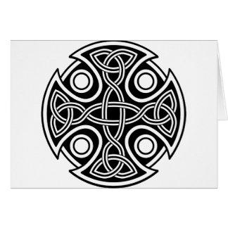 Cruz del St. Brynach blanco y negro Tarjeta De Felicitación