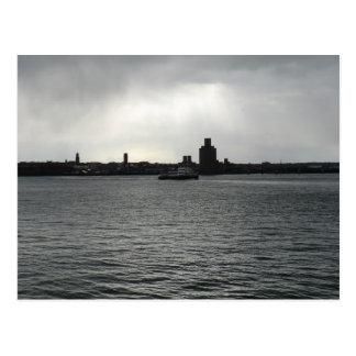 Cruz del transbordador el Mersey Tarjeta Postal