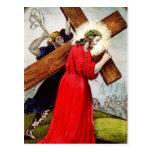 Cruz del transporte de Jesús de la postal