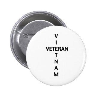 Cruz del veterano de Vietnam (botón) Pin Redondo De 2 Pulgadas