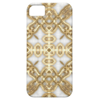 Cruz del vínculo del oro iPhone 5 Case-Mate protector