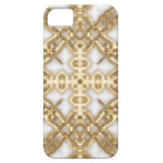 Cruz del vínculo del oro funda para iPhone SE/5/5s