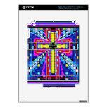 Cruz del vitral del multicolor iPad 3 pegatina skin