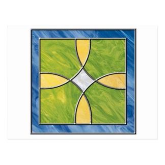 Cruz del vitral postal