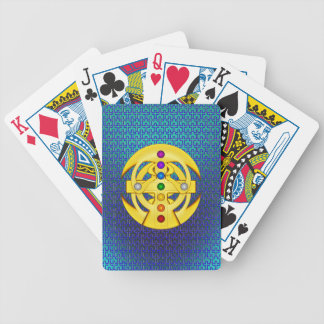 Cruz diseñada copta baraja cartas de poker