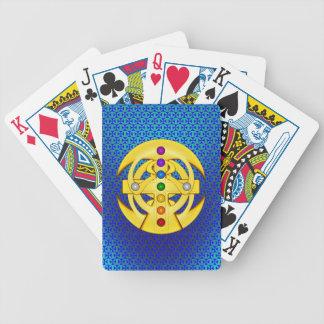 Cruz diseñada copta de la buena suerte cartas de juego