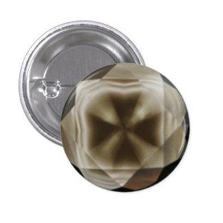 Cruz en botón cruzado único del diseño de Diamond™ Pin Redondo De 1 Pulgada