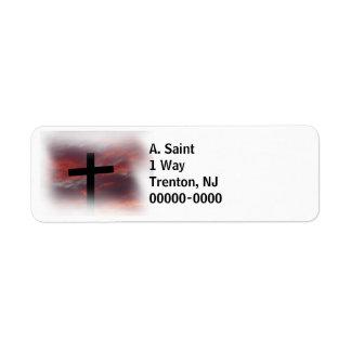 Cruz en el blanco 2 etiqueta de remitente