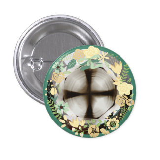 Cruz en el botón redondo de Diamond™ con Pin Redondo De 1 Pulgada