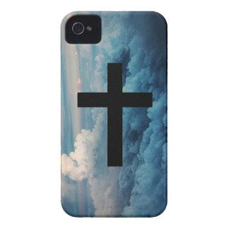 Cruz en el Cielo iPhone 4 Case-Mate Carcasas