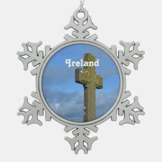 Cruz en Irlanda Adorno De Peltre En Forma De Copo De Nieve
