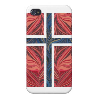 Cruz escandinava nórdica de Noruega de la bandera  iPhone 4 Funda