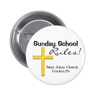 Cruz Escuela-Santa de domingo Pin Redondo De 2 Pulgadas