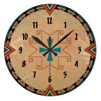 Cruz española reloj redondo grande