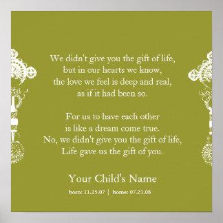 Cruz etíope - poema de la adopción póster