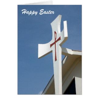 cruz feliz de pascua tarjeta de felicitación