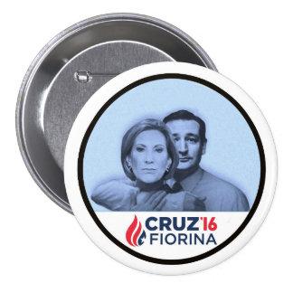 Cruz Fiorina '16 Pin Redondo De 3 Pulgadas
