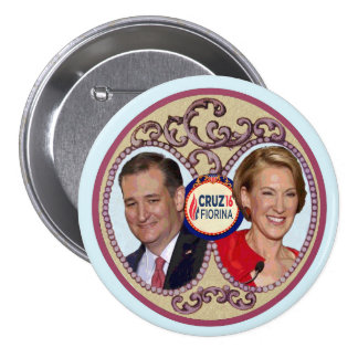 Cruz & Fiorina '16 Pinback Button