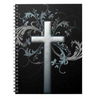 Cruz floral cuaderno