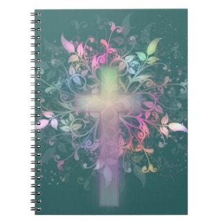 Cruz floral cuadernos