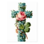 Cruz floral de Pascua Postal