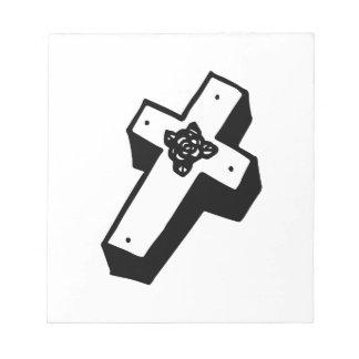 Cruz floral encajonada bloc