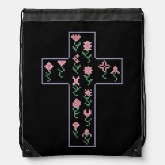 Cruz floral mochilas