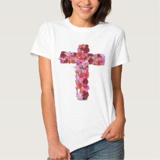 Cruz floral remera