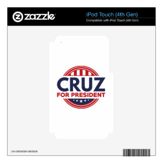 Cruz For President iPod Touch 4G Skin