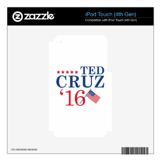 Cruz For President Skins For iPod Touch 4G