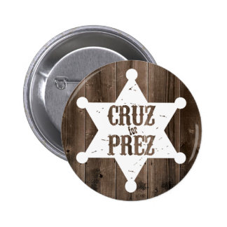 Cruz for Prez Star - Ted Cruz for President Pinback Button