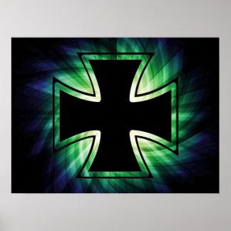 Cruz fresca del hierro poster