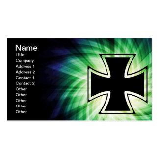 Cruz fresca del hierro tarjetas de visita