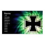 Cruz fresca del hierro tarjeta de visita