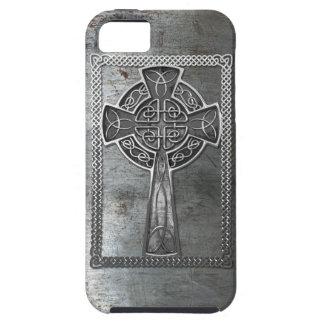 Cruz gastada del metal iPhone 5 Case-Mate cárcasas