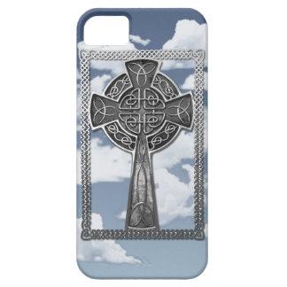 Cruz gastada del metal iPhone 5 Case-Mate coberturas