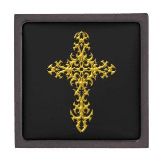 Cruz gótica amarilla agresiva cajas de regalo de calidad