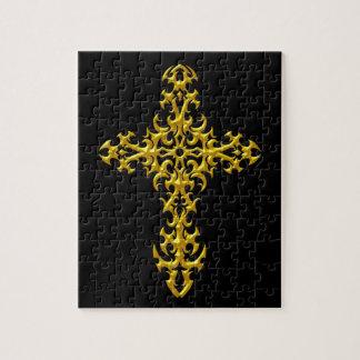 Cruz gótica amarilla agresiva puzzle