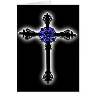 Cruz gótica tarjetón