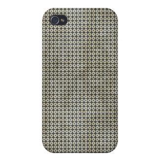 Cruz gris en caso del iPhone 4 del círculo iPhone 4 Cárcasas