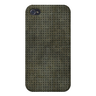 Cruz gris oscuro en caso del iPhone 4 del círculo iPhone 4/4S Fundas