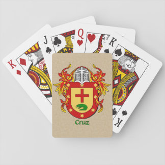 Cruz Heraldic Shield with Mantling Playing Cards