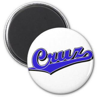 Cruz in Blue 2 Inch Round Magnet